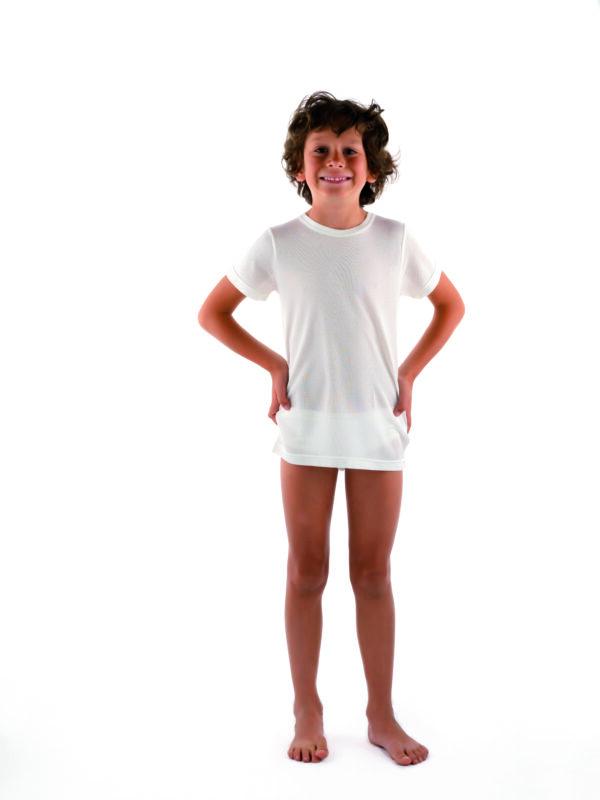 DermaSilk® Laste lühikeste varrukatega topp